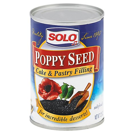 SOLO Cake & Pastry Filling Poppy Seed - 12.5 Oz