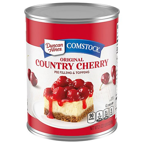 Duncan Hines Comstock Pie Filling & Topping Original Country Cherry - 21 Oz