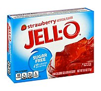 JELL-O Gelatin Dessert Sugar Free Strawberry - 0.6 Oz