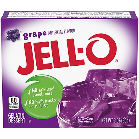 JELL-O Gelatin Dessert Grape - 3 Oz