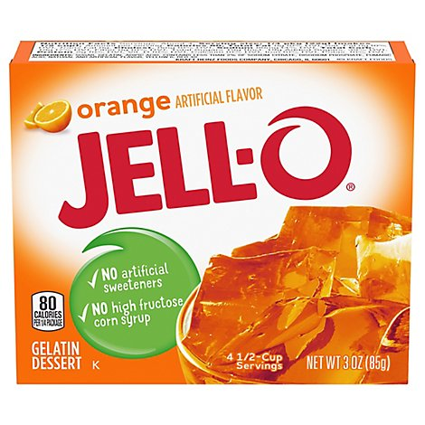 JELL-O Gelatin Dessert Orange - 3 Oz