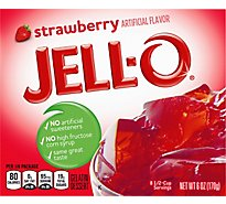 JELL-O Gelatin Dessert Strawberry - 6 Oz