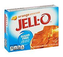 JELL-O Gelatin Dessert Sugar Free Orange - 0.6 Oz