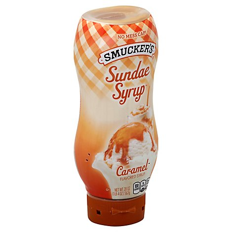 Smuckers Sundae Syrup Flavored Caramel - 20 Oz