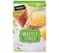Signature SELECT Waffle Cones Sweet Crispy 12 Count - 7 Oz