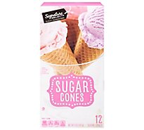 Signature SELECT Sugar Cones Sweet Crispy 12 Count - 5 Oz