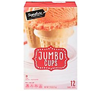 Signature SELECT Cake Cups Lightly Sweetened Jumbo 12 Count - 2.75 Oz