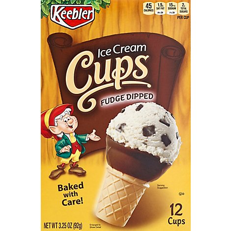 Keebler Ice Cream Cone Fudge Dipped 12 Count - 3.25 Oz