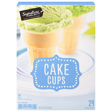 Signature SELECT Cake Cups Lightly Sweetened 24 Count - 3.5 Oz