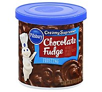 Pillsbury Creamy Supreme Frosting Chocolate Fudge - 16 Oz