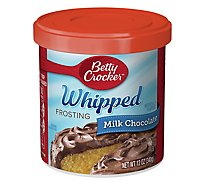Betty Crocker Whipped Frosting Milk Chocolate - 12 Oz