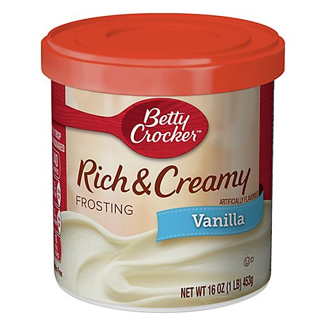 Betty Crocker Frosting Rich & Creamy Vanilla - 16 Oz
