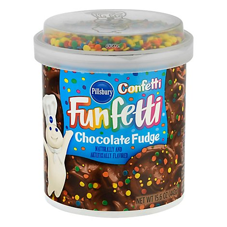Pillsbury Funfetti Confetti Frosting Chocolate Fudge - 15.6 Oz