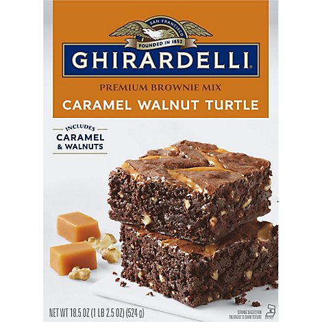 Ghirardelli Chocolate Brownie Mix Chocolate Caramel Turtle - 18.5 Oz