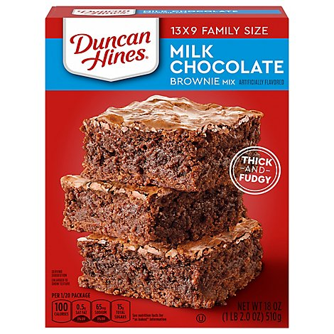 Duncan Hines Brownie Mix Milk Chocolate Brownies - 18 Oz