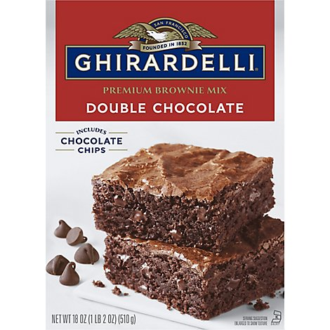 Ghirardelli Chocolate Brownie Mix Premium Double Chocolate - 18 Oz