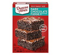 Duncan Hines Brownie Mix Dark Chocolate Brownies Family Size Box - 18.2 Oz