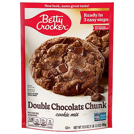 Betty Crocker Cookie Mix Double Chocolate Chunk - 17.5 Oz