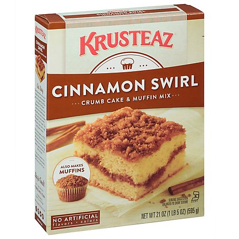 Krusteaz Crumb Cake & Muffin Mix Cinnamon Swirl - 21 Oz