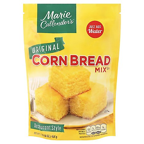Marie Callenders Corn Bread Mix Restaurant Style Original Low Fat - 16 Oz