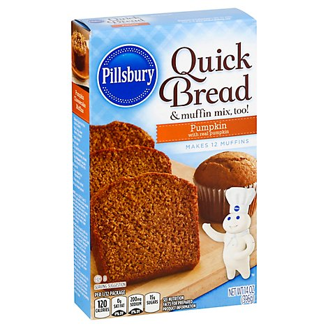 Pillsbury Quick Bread & Muffin Mix Pumpkin - 14 Oz