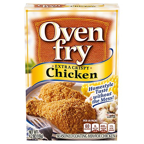 Oven Fry Seasoned Coating Mix For Chicken Extra Crispy - 4.2 Oz