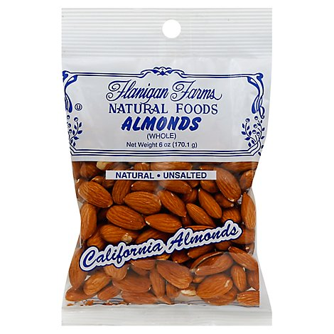 Flanigan Farms Almonds Whole Shelled - 6 Oz