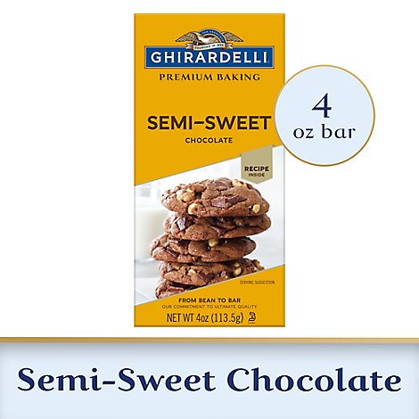 Ghirardelli Premium Baking Bar Semi Sweet Chocolate - 4 Oz