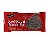 Signature SELECT Chocolate Chips Real Semi-Sweet - 12 Oz