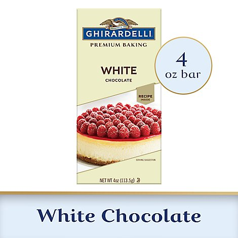 Ghirardelli Chocolate Baking Bar Premium White Chocolate - 4 Oz