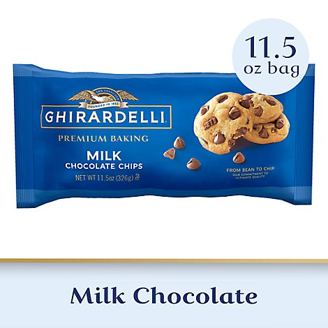 Ghirardelli Chocolate Baking Chips Premium Milk Chocolate - 11.5 Oz