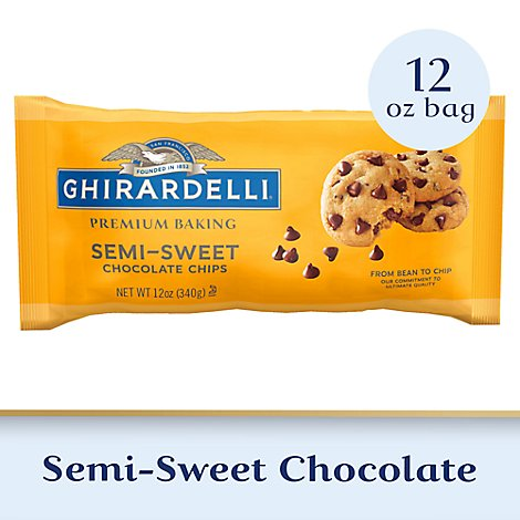 Ghirardelli Premium Baking Chocolate Chips Semi Sweet - 12 Oz