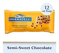 Ghirardelli Baking Chips Premium Semi Sweet Chocolate - 12 Oz