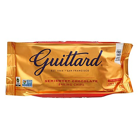 Guittard Baking Chips Semisweet Chocolate 46% Cacao - 12 Oz
