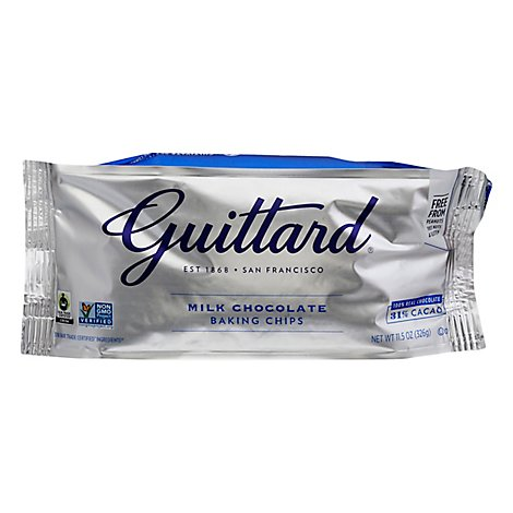 Guittard Baking Chips Milk Chocolate 31% Cacao - 11.5 Oz