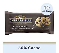 Ghirardelli Premium Baking Chips 60% Cacao Bittersweet Chocolate - 10 Oz