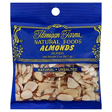 Flanigan Farms Almonds Sliced - 2 Oz