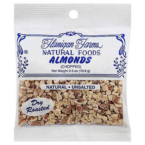 Flanigan Farms Almonds Chopped Dry Roasted - 2.5 Oz