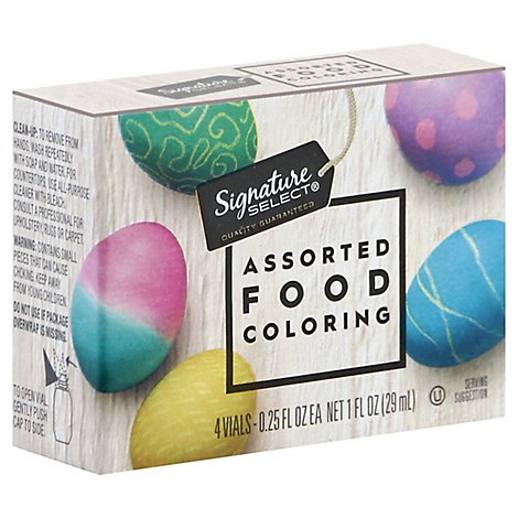 Signature SELECT Food Coloring Assorted - 4-0.25 Fl. Oz.