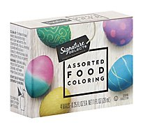 Signature SELECT/Kitchens Food Colors And Egg Dye Assorted Drop Control Vials - 4-0.25 Fl. Oz.