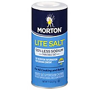 Morton Salt Lite 50% Less Sodium - 11 Oz