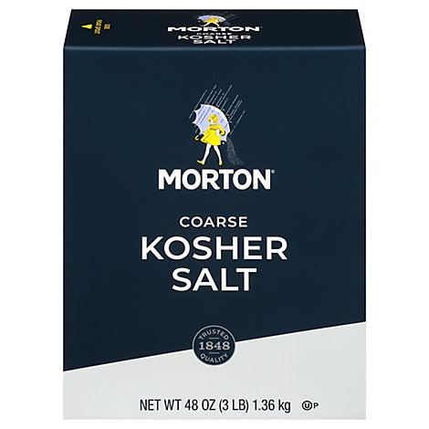 MORTON Salt Kosher Coarse - 48 Oz
