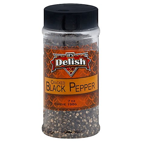 Its Delish Black Pepper Cracked - 7 Oz