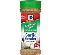 McCormick California Style Garlic Powder With Parsley Coarse Grind Blend - 6 Oz