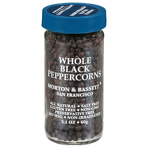 Morton & Bassett Black Peppercorn Whole - 2.1 Oz