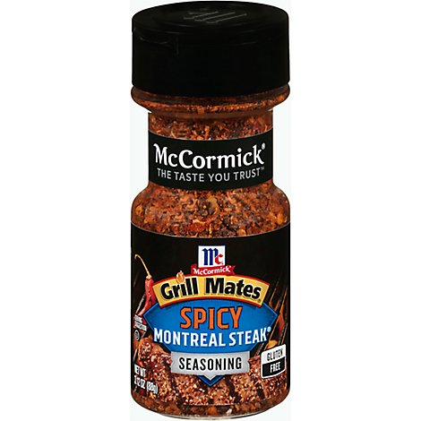 McCormick Grill Mates Seasoning Montreal Steak Spicy - 3.12 Oz