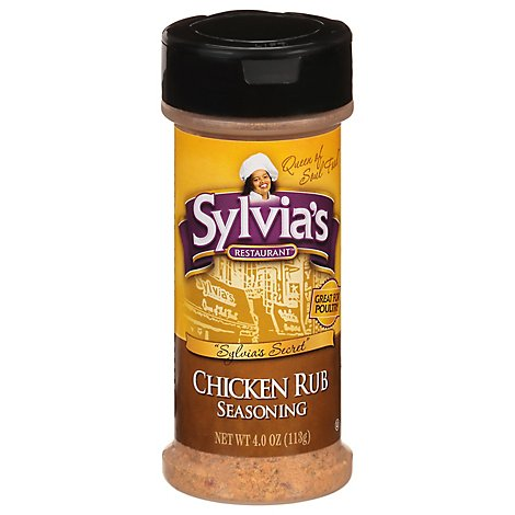 Sylvias Seasoning Chicken Rub - 4 Oz