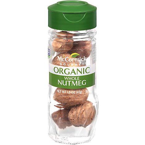 McCormick Gourmet Organic Nutmeg Whole - 1.5 Oz