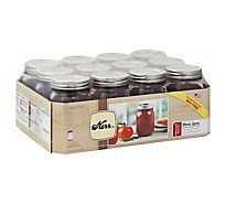 Kerr Pint Jars Regular - 12 Count
