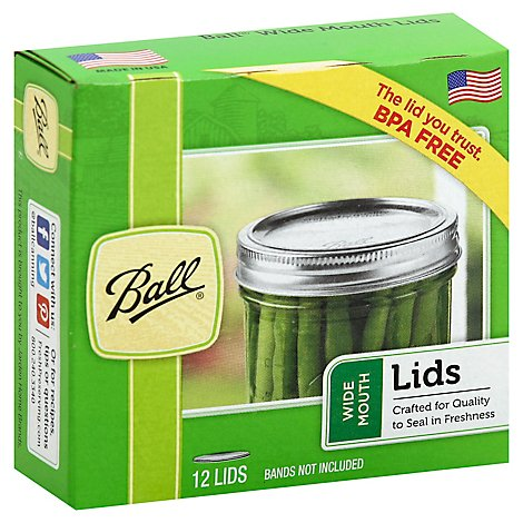 Ball Lids Wide Mouth 42 - 12 Count